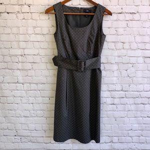 H&M Polka Dot Dress With Waist Belt Size 6